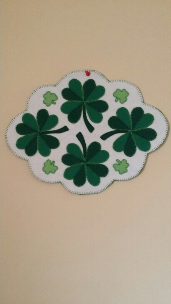 JOAN ORIELLY'S WOOL SHAMROCKS